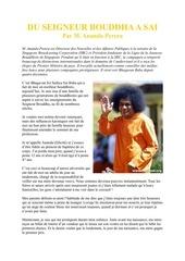 du seigneur bouddha a sathya sai baba ananda perera