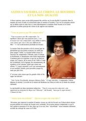 sathya sai baba le christ le bouddha et la non dualite
