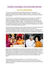 sathya sai baba une legende divine dr a p j abdul kalam