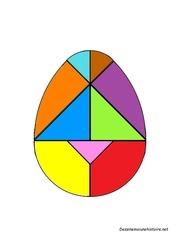 tangram oeuf avec 48 modeles