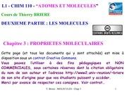 chapitre3 proprietes moleculaires