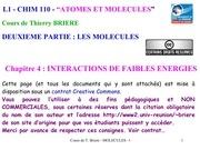 chapitre4 interactions de faibles energies