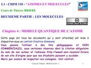 chapitre4 modele quantique de latome