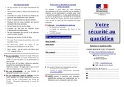 depliant securite au quotidien