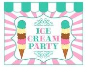 set ice cream party