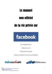 manuel de la vie privee sur facebook