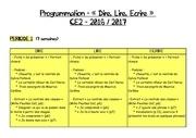 programmation dire lire ecrire ce2 periode 1