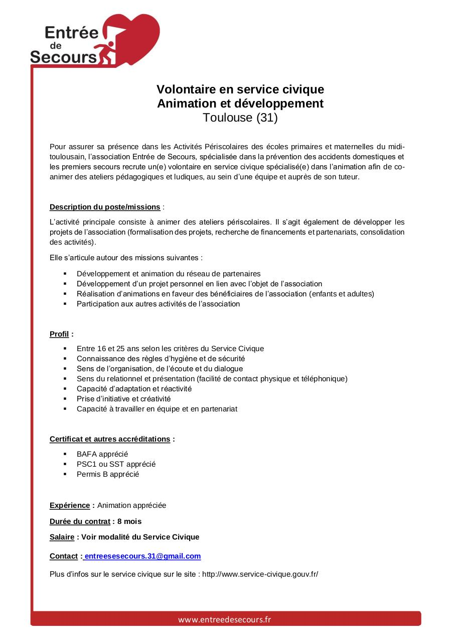Aperçu du document Fiche_Poste_Service_Civique_Toulouse.pdf - page 1/1