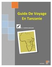 Fichier PDF guide de voyage en tanzanie