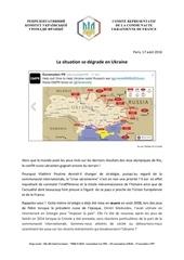 la situation se de grade en ukraine 17 aout 2016