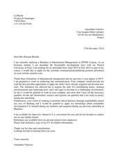 cover letterimb