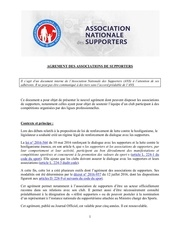 agrement supporters ans