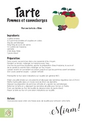 Fichier PDF recette tarte am