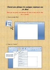 Fichier PDF tutoriel pour fabriquer des enveloppes simplement