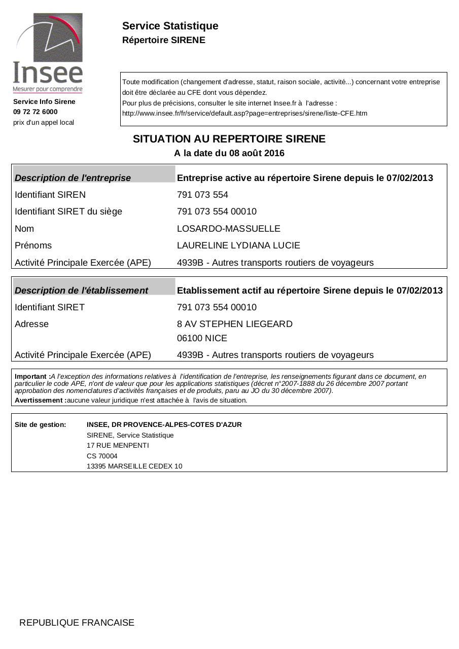 situation au r pertoire siren par insee sirene laureline massuelle pdf fichier pdf. Black Bedroom Furniture Sets. Home Design Ideas