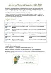 ateliers d aromatherapie2016 2017