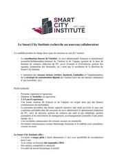 recrutement smart city institute aout 2016