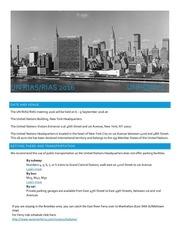 2016 rias logistical guide