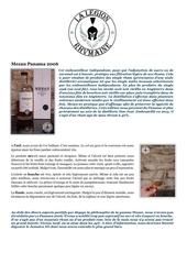 Fichier PDF fiche de degustation mezan panama 2006
