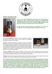 fiche de degustation rum nation jamaeca 8 ans