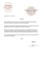 lettre de derogation ant