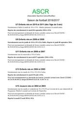 reprise saison de foot 16 17