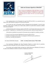 asmj circulaire licences sportives pfi lille 1