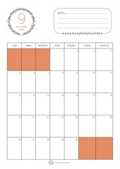 calendrier septembre 2016 orange