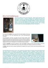 fiche de degustation silver seal trinidad 24 ans
