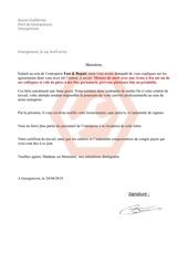 lettre de licenciment 1