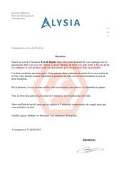 lettre de licenciment