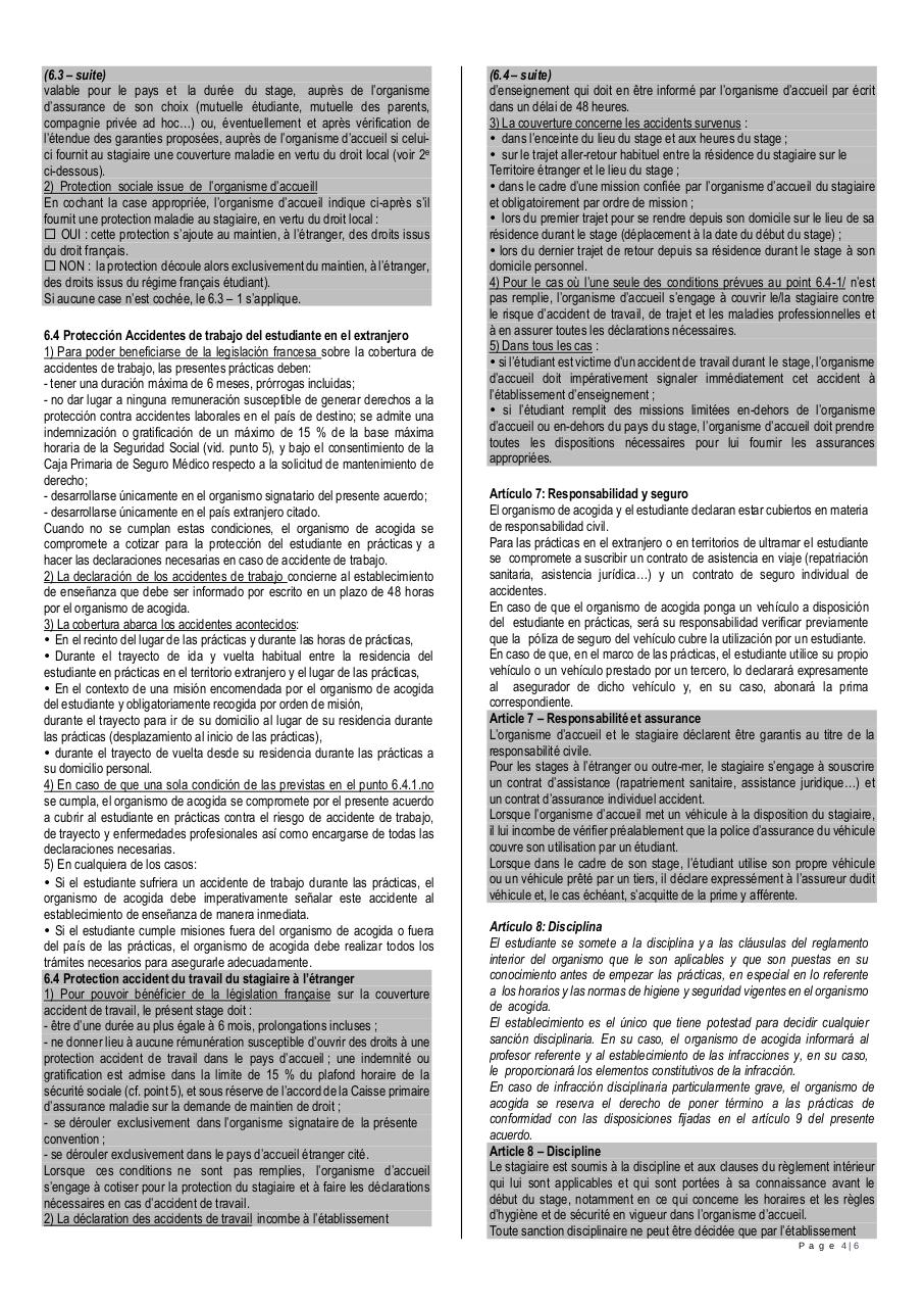 Convention de stage FR ES.pdf - page 4/6