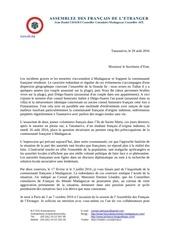 lettre secretaire d etat aout 2016