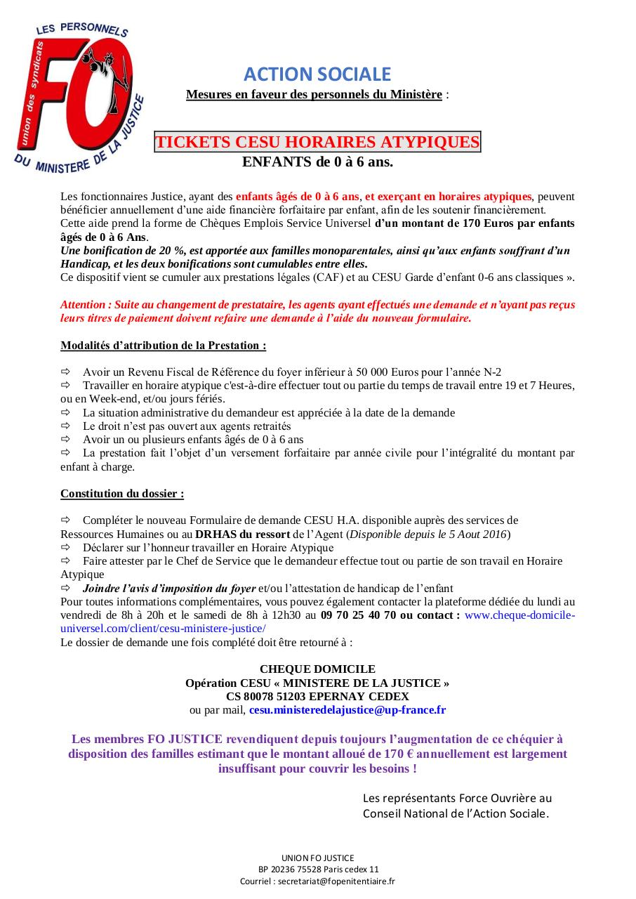 Aperçu du document ACTION SOCIALE Union FO JUSTICE.pdf - page 1/1