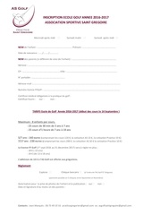 Fichier PDF inscription ecole golf pdf