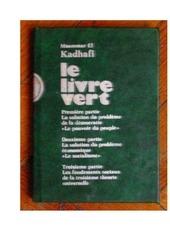 le livre vert de mouammar kadhafi