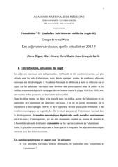 adjuvants vaccinaux rapport anm1