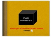 auditing for probity in procurement 1