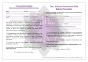bulletin d inscription cours 2016 2017