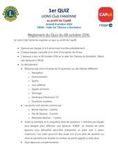 reglement du quiz lions club famenne cap48 2016