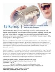 talkshop for individuals