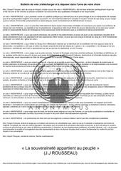 bulletin de vote anonymous a imprimer