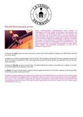fiche de degustation isla del ron jamaeca 30 ans