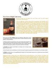 fiche de degustation new grove single cask 2004