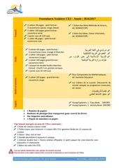 Fichier PDF fournitures scolaires ce2