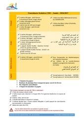 fournitures scolaires cm1