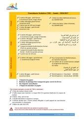 Fichier PDF fournitures scolaires cm2