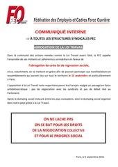 abrogation loi travail 15 septembre 2016