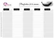agenda detaille de la semaine planification mlb