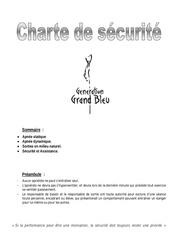 charte de securite